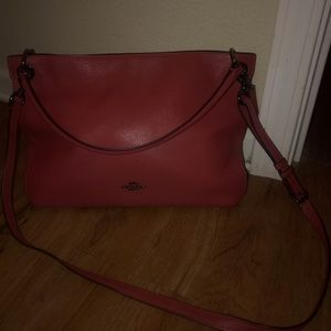 Used Deep Cherry Red Coach Purse